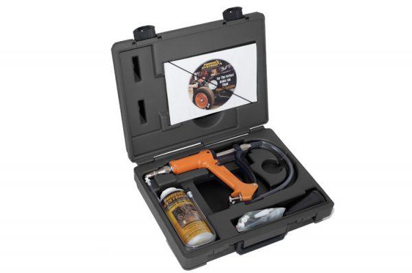 Car brake bleeding kit inside case