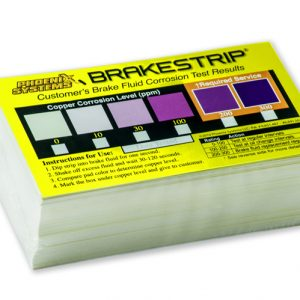 Set of BrakeStrip brake fluid test results chart