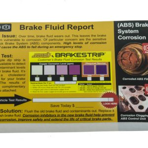Brake fluid report cards