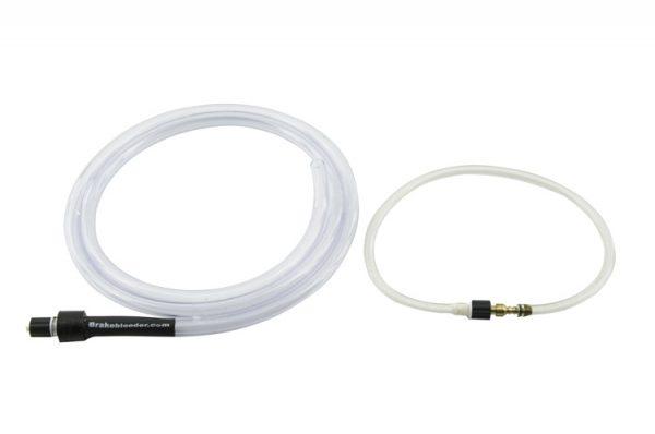 Brake fluid capture hose and pressure adapter
