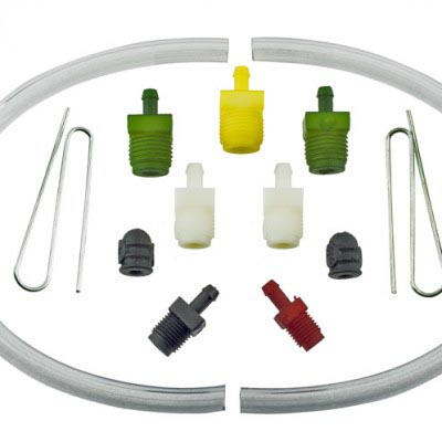 Bench brake bleeding fitting kit