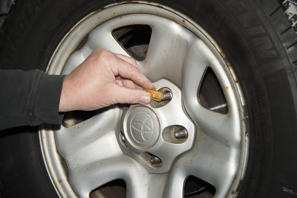 Front Wheel Brake Inspection 05