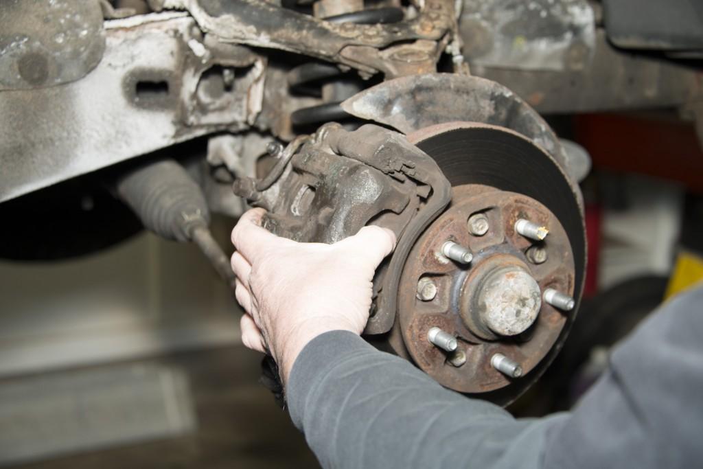 Front Wheel Brake Inspection 07
