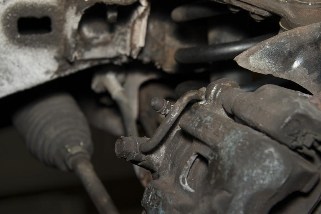 Front Wheel Brake Inspection 08