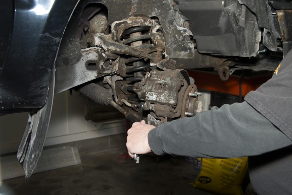 Front Wheel Brake Inspection 14