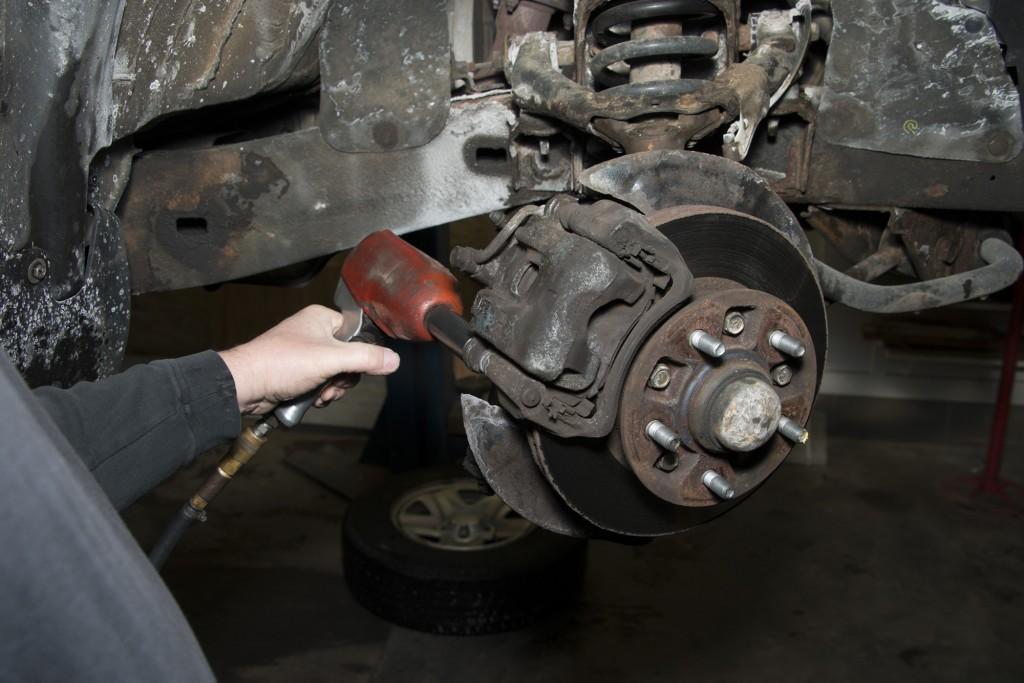 Front Wheel Brake Inspection 16