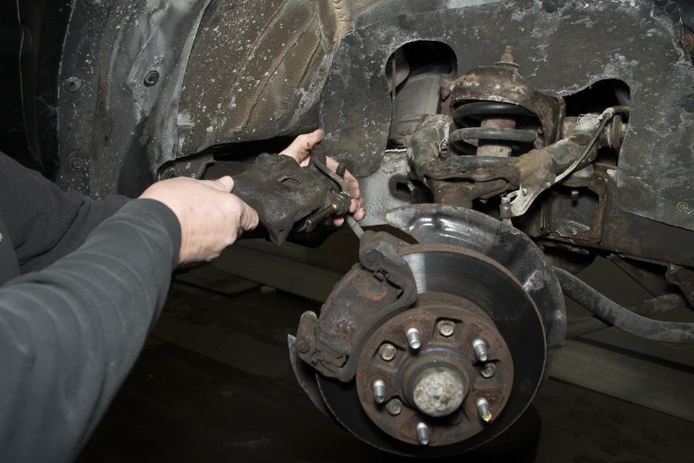 Front Wheel Brake Inspection 19