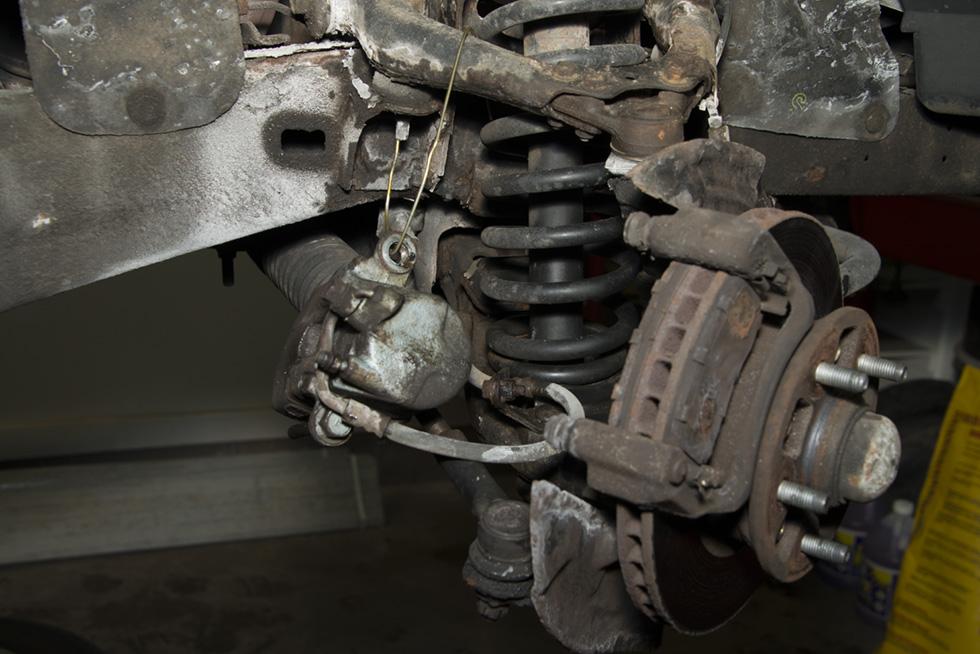Front Wheel Brake Inspection 22