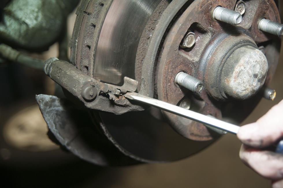 Front Wheel Brake Inspection 29