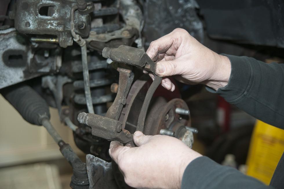 Front Wheel Brake Inspection 32