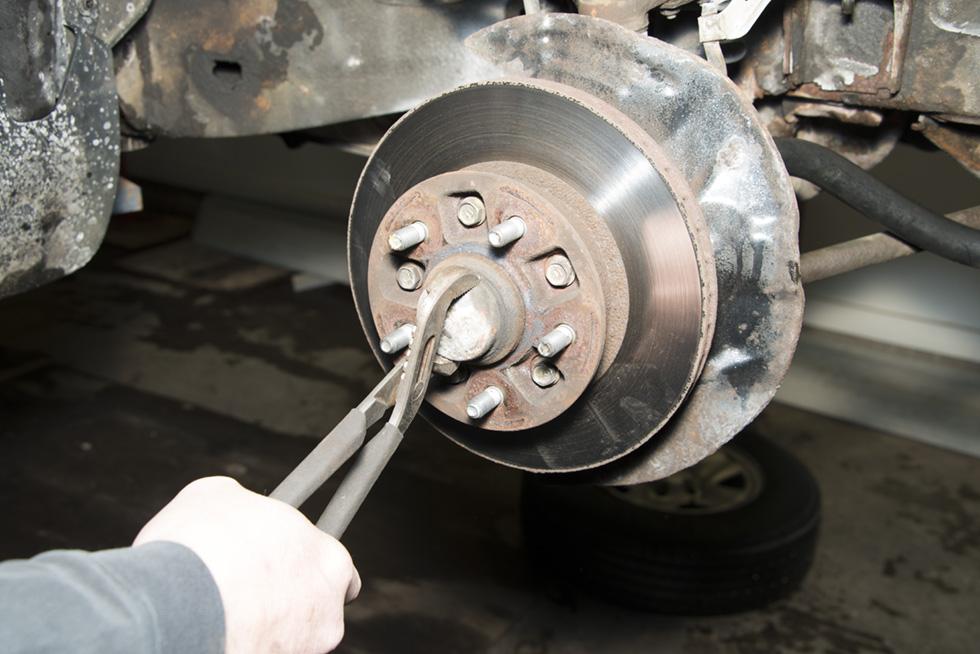 Front Wheel Brake Inspection Part 4