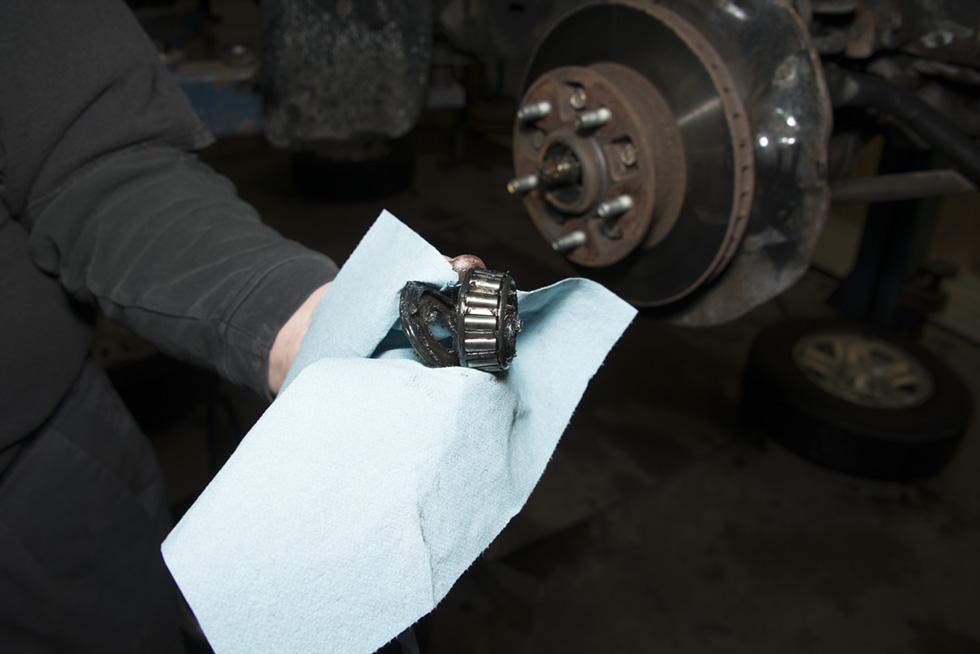 Front Wheel Brake Inspection 35
