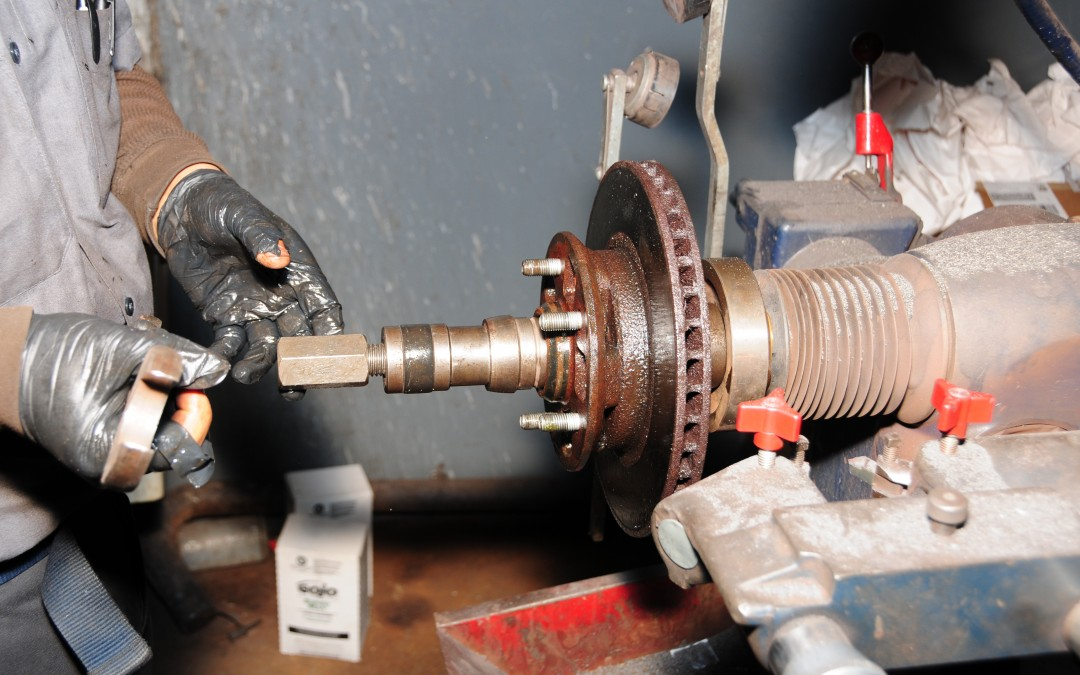 Relining Front Disc Brakes and Rotor Service Part 3