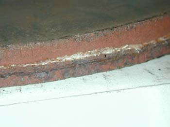 Curb with scuff marks