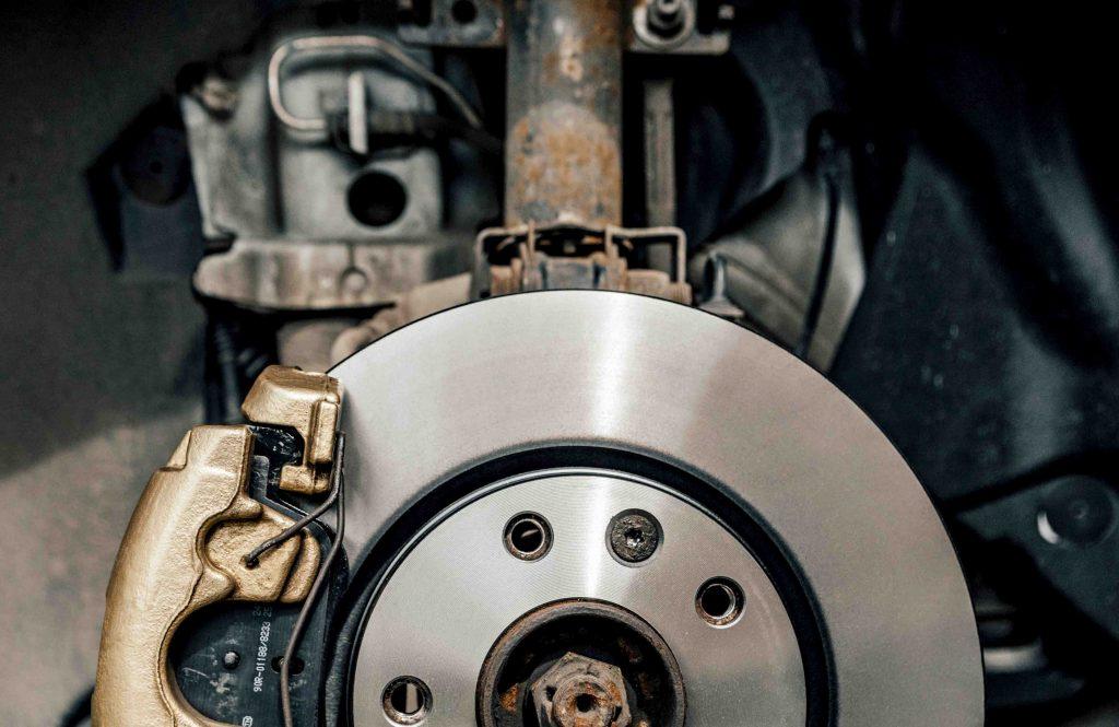 close up image of car brakes