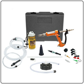 Complete components of MaxProHD European Reverse Brake Bleeder Kit from Phoenix Systems