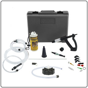 Complete components of the V-12 European Reverse Brake Bleeder Kit from Phoenix Systems