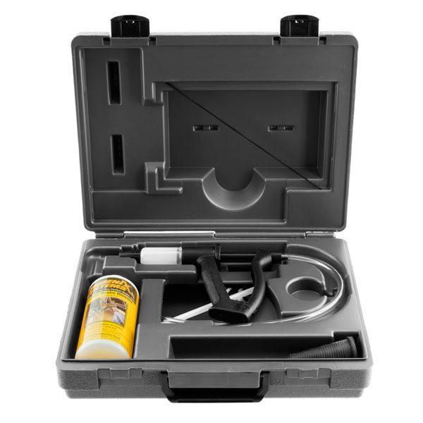 V-12 European car brake bleeding kit in a transportable case