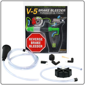 Complete components of V-5 European Reverse Brake Bleeder Kit from Phoenix Systems