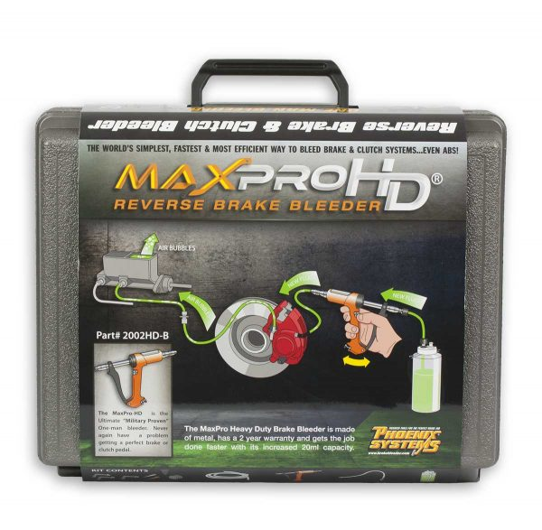 Informational Sleeve on MaxProHD brake bleeding kit box