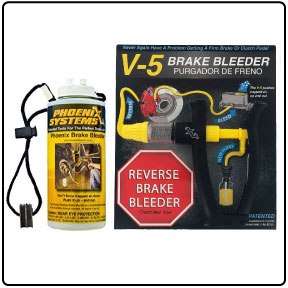 Car brake bleeding kit with reverse brake bleeder, and brake fluid capture and refill bottle