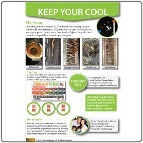 Infographic for testing coolant fluid
