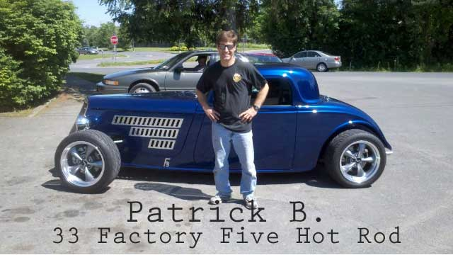 Phoenix Systems customer stands in front of vintage car after using a reverse brake bleeder on it