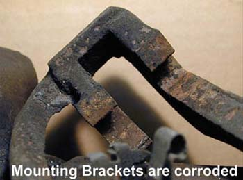 Rusted mounting brackets