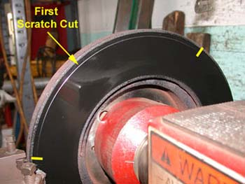 Rotor with a scratch less than 50 percent