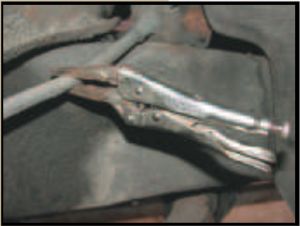 Vice grips on a brake line